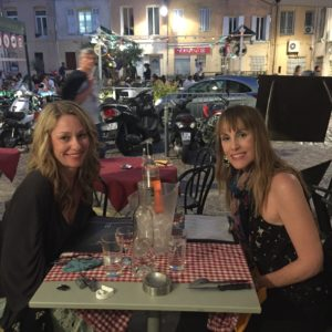 My sister Ali and I dining in Aix-En Provence.